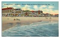 Stephen Decatur, Mayflower & Royalton Hotels Beach, Ocean City, MD Postcard *5W2
