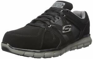 Skechers for Work Men's Synergy Ekron Alloy Toe Work, Black/Charcoal, Size 13.0