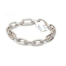 "New DAVID YURMAN 8.5mm Sterling Silver Madison Chain Bracelet Medium 7.75"""