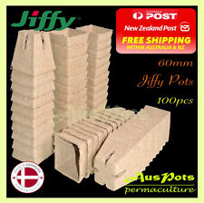 60mm Square Jiffy Pot  x 100pcs - Tray Friendly, Propagation & Seedling