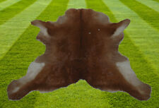 """B Grade  Calfhide Rugs Area Cow Skin Leather Cowhide ULG 35625 (29"""" X 34"""" )"""
