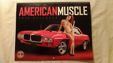 2018 American Muscle Spiral Bound Wall Calendar-New Car New Bikini Girl ea month
