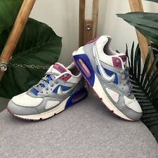 Nike Air Max 90 Sneakers Womens Size 7 White Blue Pink Grey Silver Shoes Trainer
