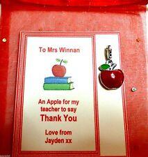 Apple Para Profesor CLIPON encanto profesor Gracias Regalo Personalizado de tarjeta de regalo/bolsa