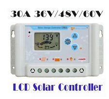 36V/48V/60V 30A Auto sensing lithium LiFePO4 solar charge controller with 5Vusb
