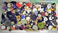 ⭐ LOT of 100 Mixed Buttons Vintage Wood Resin Craft Sewing Scrapbook Cards ⭐️