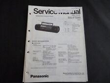 Original Service Manual Panasonic RX-FT590