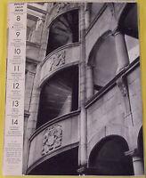 1956 PUY-DE-DÔME MONTFERRAND ESCALIER DE L'HOTEL DU SIRE DE BEAUJEU