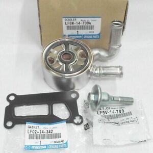 Mazda Genuine Updated Oil Cooler Kit  3 5 6 CX-7 LF6W-14-700A & HARDWARE