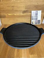 Le Creuset Marseille Bistro Pan Grill Enameled Cast Iron Cookware New Open Box