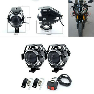 1Pair Motorcycle LED Headlights Decorative Lamp Headlamp 3000lm Spot head light