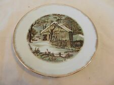 """The Old Homestead in Winter Currier & Ives Collector Plate 7"""" (H1)"""