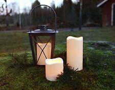 3er Set romantische LED - Kerzen Indoor und Outdoor  Timer Laterne Grab Licht