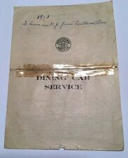 Rare 1913 Southern Pacific Dining Car Service Menu