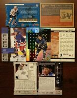 LOT OF 7 Serial-numbered NHL Insert Hockey Cards - LEAFS RANGERS AVS COMB SHIP