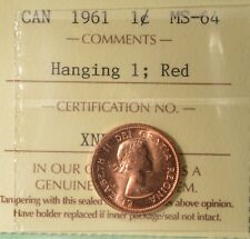 small cent or penny 2011 Non-Magnetic Canada 1 Cent  ICCS graded MS-65;  RED