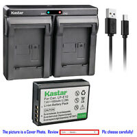 Kastar Battery Dual Charger for Canon LP-E10 LC-E10 Canon EOS 2000D 3000D Camera