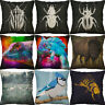 Lizards, insects Printing Pillow Case Home Decor cotton linen Cushion Cover