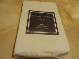 "1 new EURO Pillow SHAM  Cream  Raymond Waites~Cabolina~collection 26"" x 26"""