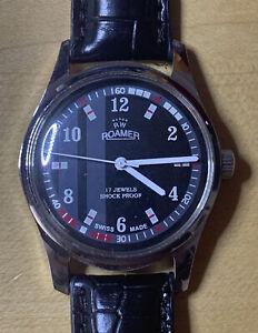 Vintage Roamer Mechanical Hand Winding  Analog Swiss Watch.  New Crystal & Band