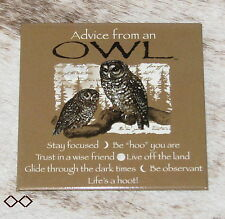 """LEANIN TREE """"Advice From An Owl""""~#26344 Magnet~Stay Focused~Be """"Hoo"""" You Are~"""
