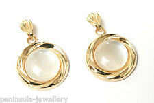 9ct Gold Mother of Pearl drop Earrings Gift Boxed
