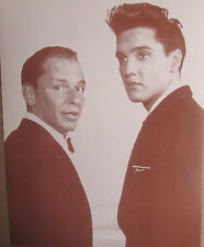 """Elvis & Sinatra Sepia Poster Print 11"""" X 14"""" Sepia Poster The King And Frank"""