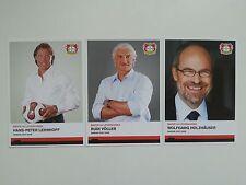 3 x AUTOGRAMMKARTEN Bayer 04 Leverkusen OHNE UNTERSCHRIFT