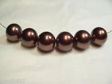 BNAPL10b Chocolate : 14 x 16mm Acrylic Pearl Beads