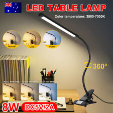 LED Desk Lamp Table Bedside Reading Study USB Dimmable Night Light Bedroom Home