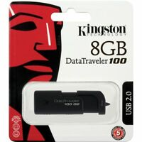 Kingston Datatraveler 100 8GB USB Flash Drive (For Macs, PC and Linux)