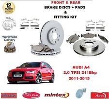 para AUDI A4 Avant 2.0 TFSI 211bhp delante + discos de freno Trasero Pastillas+