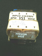 PREM Transformer SPW-151 6.3V 1.43A or 12.6VCT 715mA PC-mount NEW