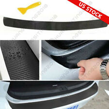 Universal 4D Carbon Fiber Car Rear Bumper Trunk Tail Lip Protect Decal Sticker Q (Fits: Daewoo)