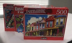 (3) Puzzlebug/Cra-z-art Puzzle VARIETY M