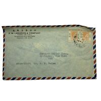 1950 HONG KONG COVER TO IRVINGTON NEW YORK, MOWMING ROAD SOUTHERN SHANGHAI