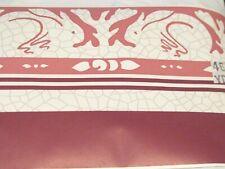 Wallpaper Border Modern Art Bunny Rabbits Burgundy Pink Mauve Wine Gray 555461