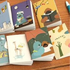 8pcs Portable Mini Notepad Handy Pocket Memo Small CartoonNotebook Stationery