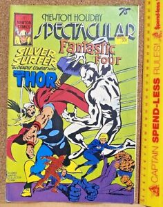 1975 NEWTON COMICS HOLIDAY ONE-SHOT AUSSIE MARVEL THOR SILVER SURFER FF 100 PGS!