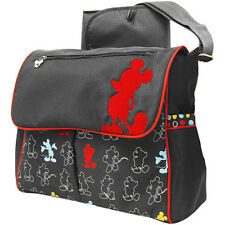 NEW/TAG INFANT DISNEY MICKEY MOUSE THE HOUSE MESSENGER DIAPER BAG /CHANGER