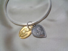STERLING BANGLE W RELIGIOUS  CHARM