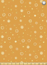 Susybee's Whimsy Dots Tangerine Orange Floral 100% cotton fabric by the yard