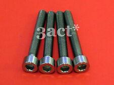 """4 - M6 x 45mm Titanium / Ti Bolt fit 203mm 8"""" Rotor Disc Brake Caliper Mount"""
