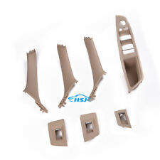 Beige Door Handle Recessed Grip Switch Panel Kit Fit For BMW 528i 530i 535i