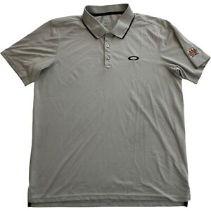 Oakley Westin Hills Country Club Regular Fit Gray Mens Golf Polo Shirt • Large L