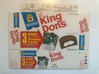 1975 Hostess set  King Dons FULL COMPLETE BOX  BASEBALL panel VINTAGE TWINKIES