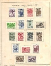 Soviet  Union 1941y Four sets on old sheet . 16 used stamps.