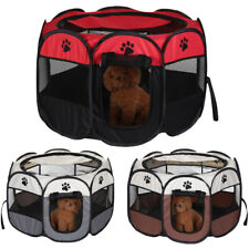 More details for large new fabric foldable pet exercise kennel soft dog run puppy playpen cage uk