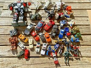 Large Vintage Bandai Gobot Transformers Lot  for Parts Pieces Repair