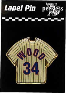 Chicago Cubs Kerry Wood #34 Label Pin Pinstripe Jersey 12168